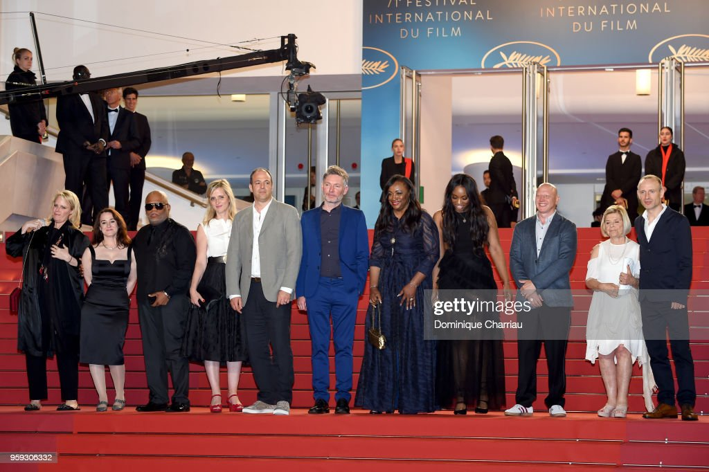 Co-producer Vanessa Tovell, producer Lisa Erspamer, Ulysses Carter, Lisa Chinn, Jonathan Chinn, director Kevin Macdonald, executive producer Pat Houston, Rayah Houston, producer Jonathan Chinn, executive producer Nicole David and editor Sam Rice-Edwards attend the screening of 'Whitney' during the 71st annual Cannes Film Festival at Palais des Festivals on May 16, 2018 in Cannes, France.