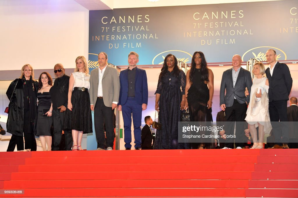 Co-producer Vanessa Tovell, producers Lisa Erspamer, Ulysses Carter, Lisa Chinn, Jonathan Chinn, director Kevin Macdonald, executive producer Pat Houston, Rayah Houston, producer Jonathan Chinn, executive producer Nicole David and editor Sam Rice-Edwards attend the screening of 'Whitney' during the 71st annual Cannes Film Festival at Palais des Festivals on May 16, 2018 in Cannes, France.