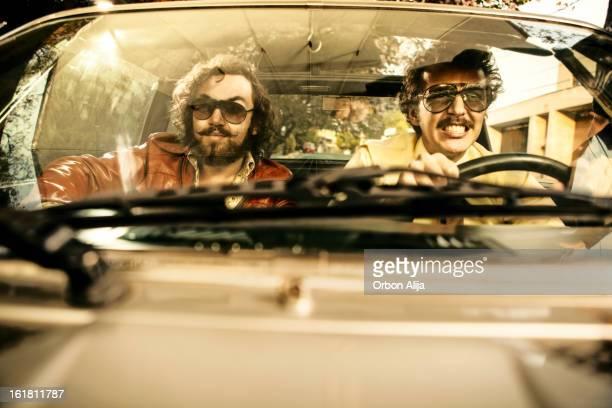 Cops in a car