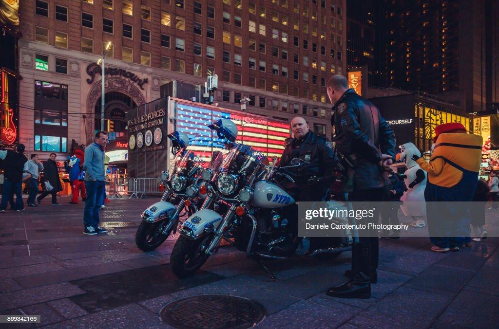Cops in Times Square : Stock Photo