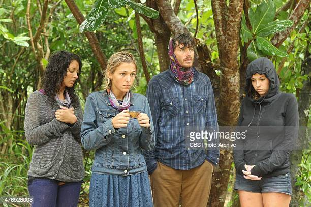 CopsRUs Alexis Maxwell Jefra Bland Jeremiah Wood and Morgan McLeod of the Beauty Tribe during the second episode of SURVIVOR CAGAYAN Wednesday March...