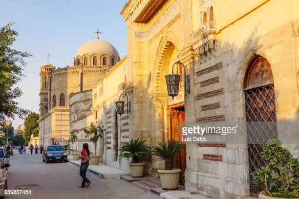 coptic cairo, hanging church and saint george´s - cairo stock pictures, royalty-free photos & images