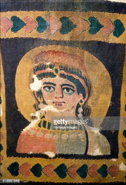Coptic Textile Portrait of Ariadne 5th century Mostly associated with mazes and labyrinths because of her involvement in the myths of the Minotaur...