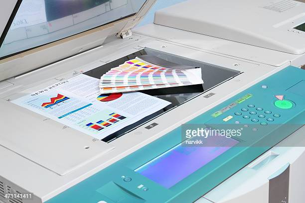 Copy Machine with Colour Chart and Printed Document