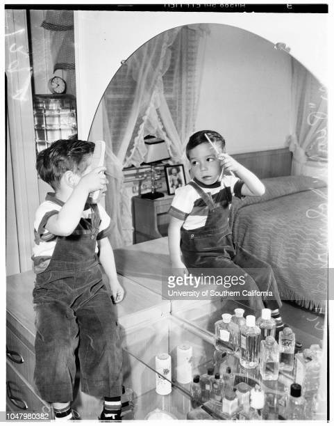 Copy Negative May 11 1951 Norman JohnsrudOlivia Johnsrud with childrenSteven JohnsrudDougie Johnsrud