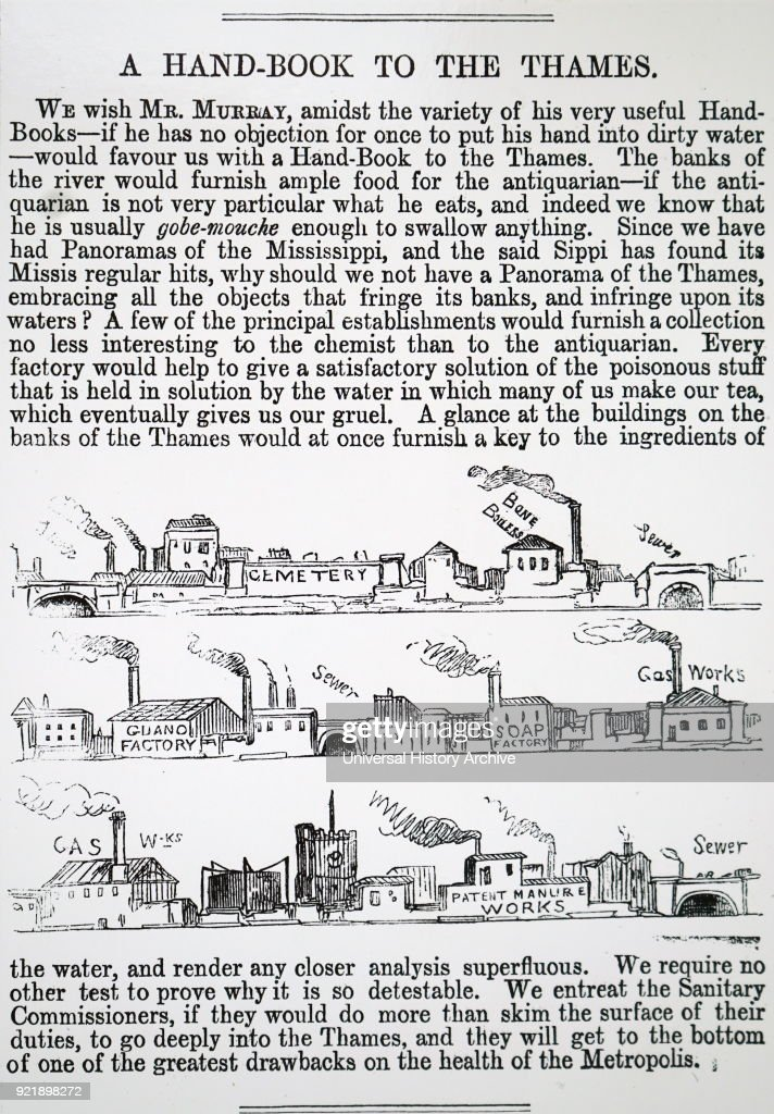 Copy of a complaint made about Thames pollution by establishments along the river bank. Dated 19th century.