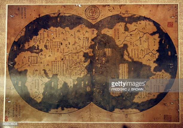 A copy of a map that collector Liu Gang claims proves controversial theories that famed Chinese mariner Zheng He was the first to discover America...