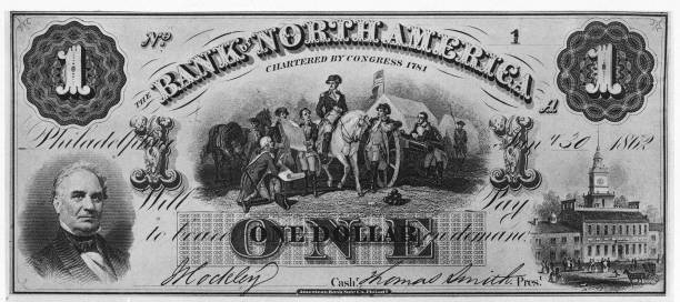 A copy of a one dollar bill issued by the Northern...