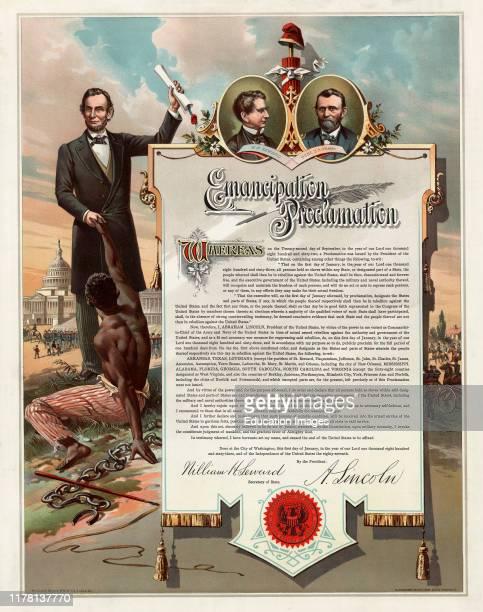 Copy of Abraham Lincoln's Emancipation Proclamation, Henderson, Achert, Krebs Lith. Co., Cincinnati, Ohio, 1890.