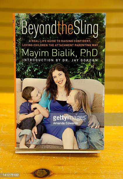 A copy of actress and neuroscientist Mayim Bialik's new book 'Beyond The Sling' is displayed at Barnes Noble 3rd Street Promenade on March 13 2012 in...