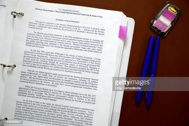 A copy of all 448 pages of the Mueller Report are set out and ready for members of the House of Representatives to read in the Rules Committee...