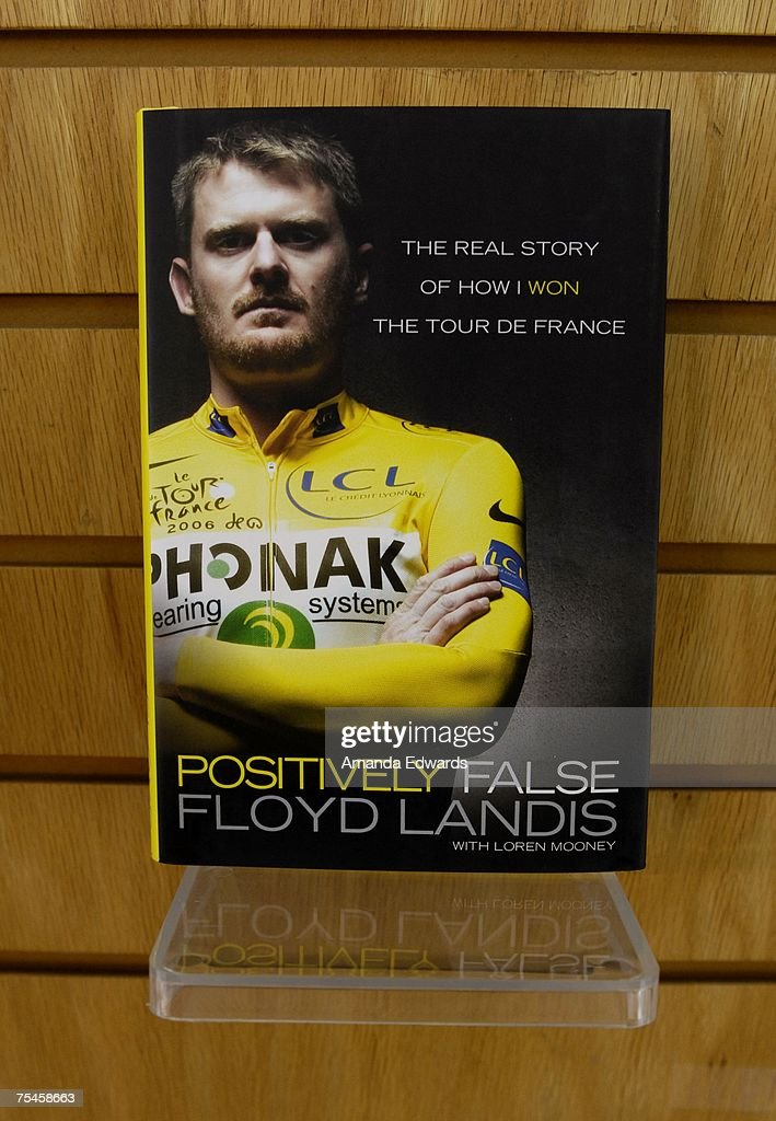 """Floyd Landis Signs Copies Of """"Positively False"""" : News Photo"""