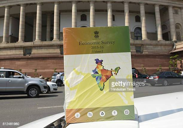 Copy of Economic Survey during Parliament Session on February 26 2016 in New Delhi India Both the Houses of Parliament today conducted smooth...
