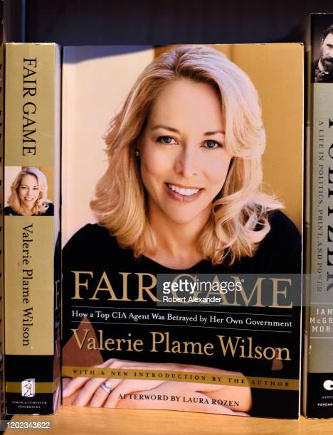 A copy of former CIA agent Valerie Plame Wilson's book 'Fair Game' for sale in a bookstore in Santa Fe New Mexico