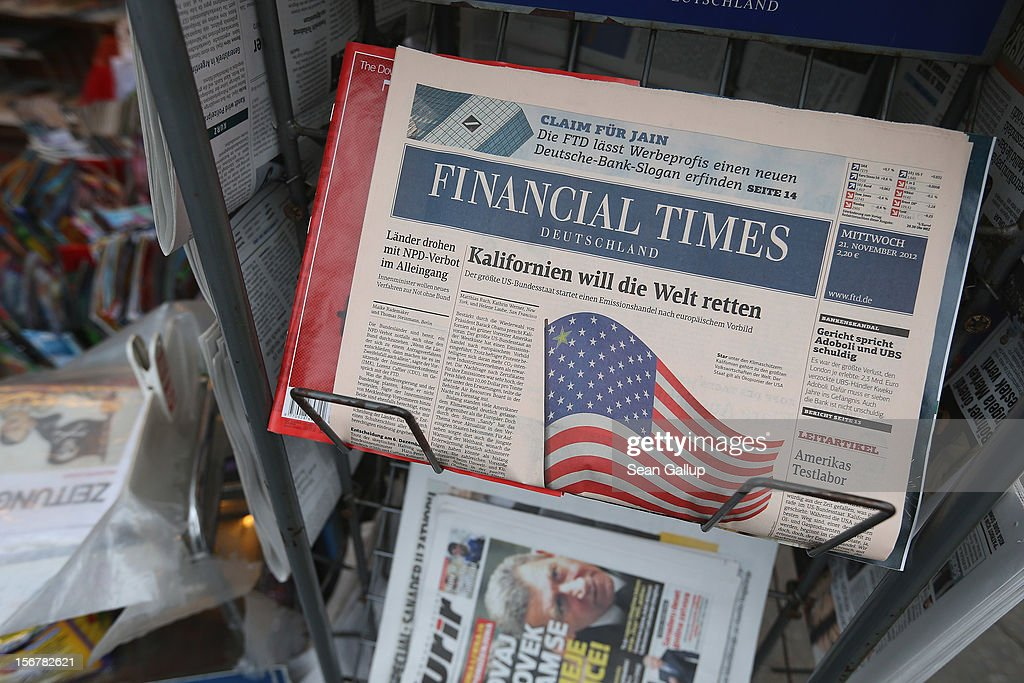 A copy of German business daily newspaper Financial Times Deutschland lies on display at a kiosk on November 21, 2012 in Berlin, Germany. Gruner + Jahr, the publishing company that owns the paper, is likely to announce today that the newspaper will cease publication. Launched in 2000, the paper has never made a profit and instead racked up EUR 250 million in debt.