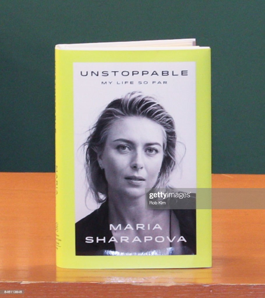 Copy of Maria Sharapova's new book, 'Unstoppable: My Life So Far' at Barnes & Noble, 5th Avenue on September 12, 2017 in New York City.