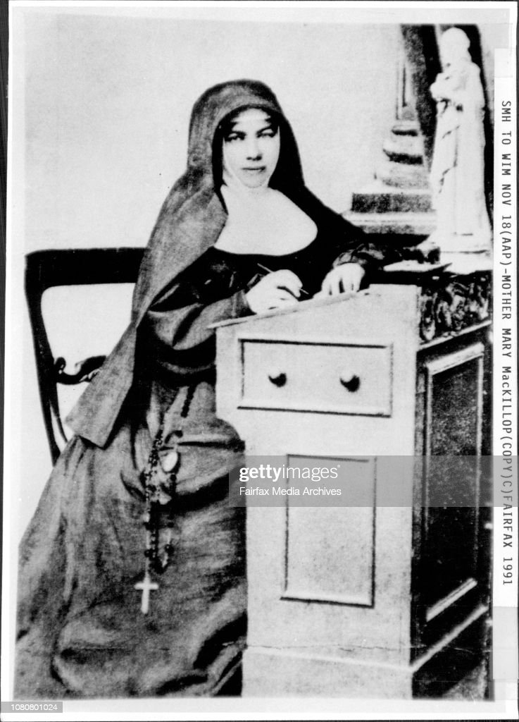 Copy of Mother Mary early in her church years.Father Paul Gardiner, is an Australian Catholic Priest, who works in Rome.He is Currently working as the Postulator of the cause for canonization of Mother Mary MacKillop who was born in Melbourne in 1842 and : News Photo