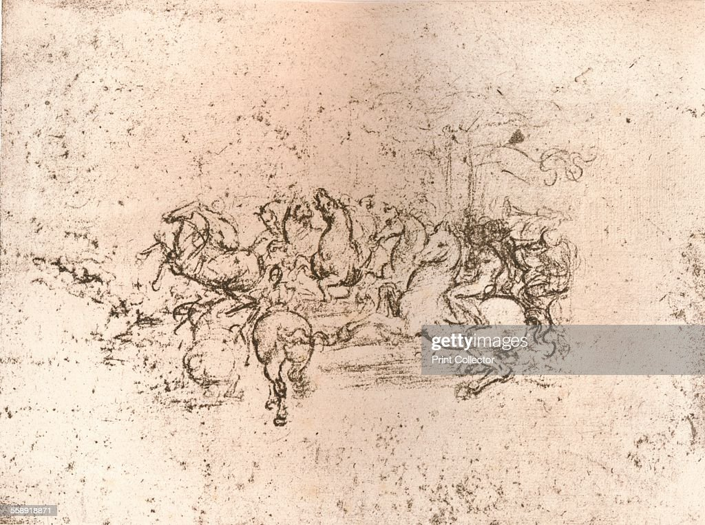 copy of part of the cartoon of the battle of anghiari c1505 c1523