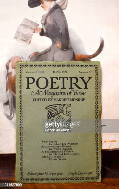 Copy of 'Poetry A Magazine of Verse' for sale in an antique shop in Santa Fe, New Mexico.