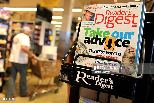 A copy of Reader's Digest magazine is displayed on a rack at a grocery store August 17 2009 in San Anselmo California Citing weak advertising revenue...