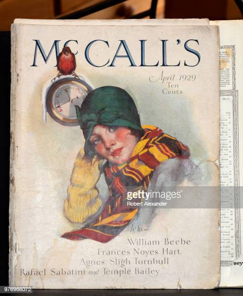 A copy of the April 1929 issue of McCall's magazine for sale in an antique shop in Santa Fe New Mexico