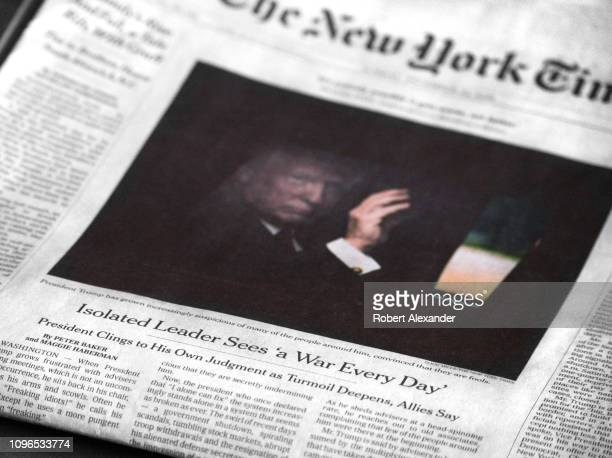 A copy of the December 23 2018 edition of The New York Times features a frontpage article by Peter Baker and Maggie Haberman referring to US...