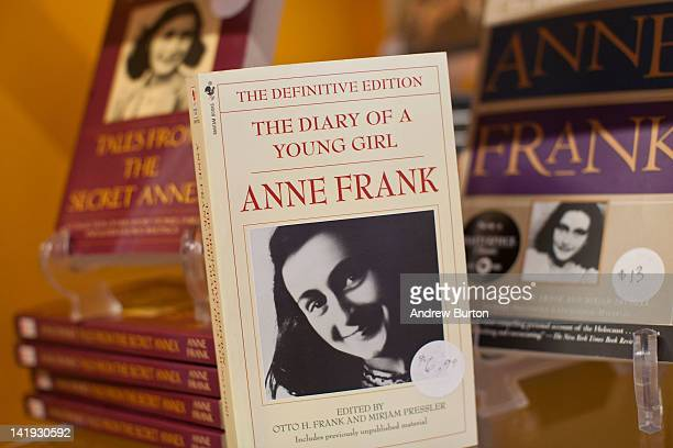 A copy of The Diary of a Young Girl Anne Frank is displayed at the Anne Frank Center USA on March 26 2012 in New York City The center which opened on...