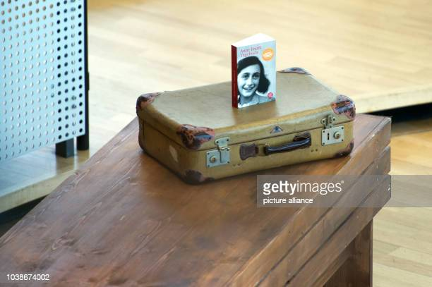 A copy of the Diary of Anne Frank can be during the Day of Remembrance for the victims of National Socialism at the State Parliament in Dresden...