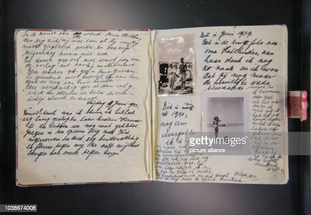 A copy of the diary of Anne Frank can be seen in an exhibition in Frankfurt Germany 24 March 2017 At the end of March this year the exhibition 'Anne...