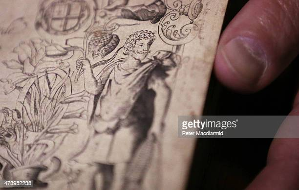 A copy of The Herball book shows what is thought to be the first authenticated living portrait of William Shakespeare at The Rose Theatre on May 19...