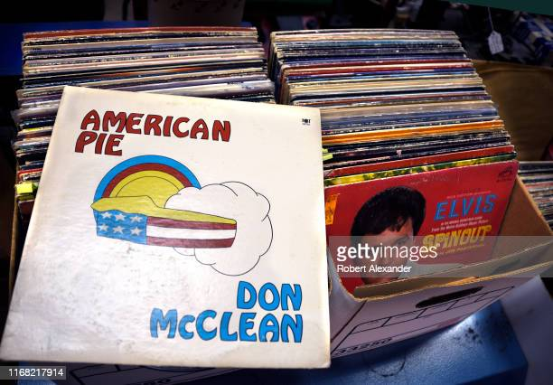 Copy of the record album 'American Pie' by Don McClean is among items for sale in an antiques shop in Grants Pass, Oregon. The album was released in...