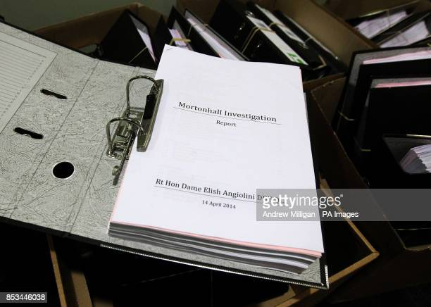 Copy of the report at Dynamic Earth in Edinburgh, published on Mortonhall crematorium which secretly disposed of babies' remains without the...