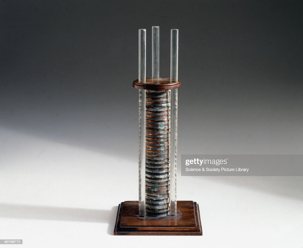 first electric motor invented by michael faraday. Copy Of The Voltaic Pile Sent To Michael Faraday (1791-1867) At First Electric Motor Invented By