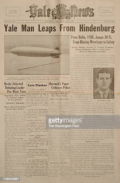 Copy of the Yale Daily News chronicling Peter Belin's escape from the Hindenburg disaster Peter's son Harry Belin and his wife Susan Belin sold the...