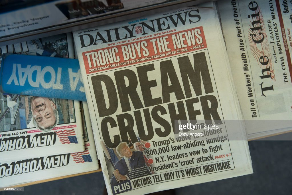 Tronc Media Company Buys New York Daily News : News Photo