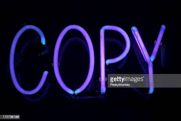 Copie Panneau Violet néon