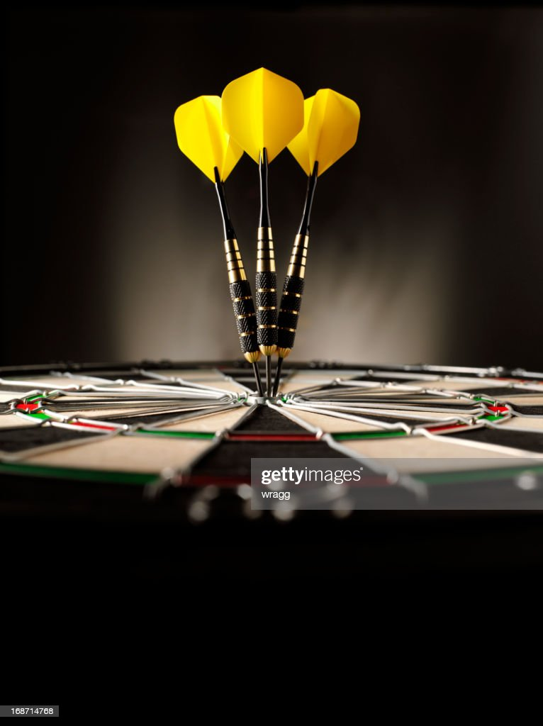 Copy Space in Darts : Stock Photo