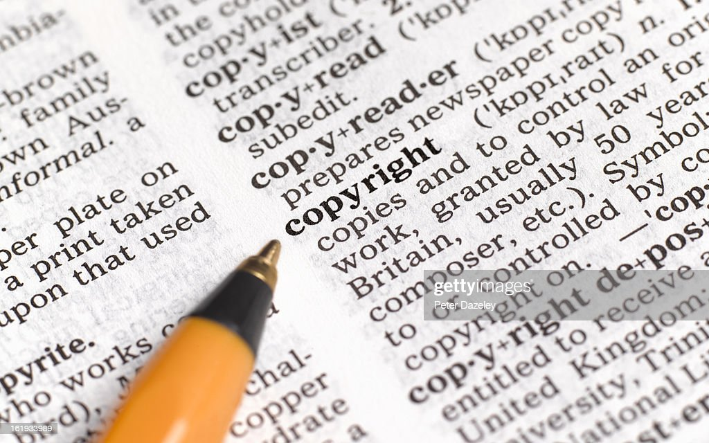 Copyright in dictionary : Stock Photo