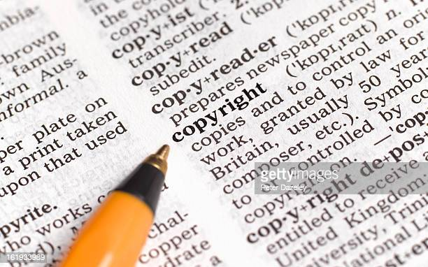 copyright in dictionary - intellectual property stock pictures, royalty-free photos & images