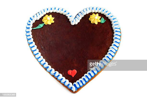 copyspace gingerbread cookie heart