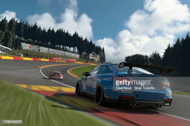 Coque Lopez of Spain and Team BMW compete in Race 1 of the Manufacturer Series during Round 1 of the FIA Gran Turismo World Tour 2020 held at Luna...