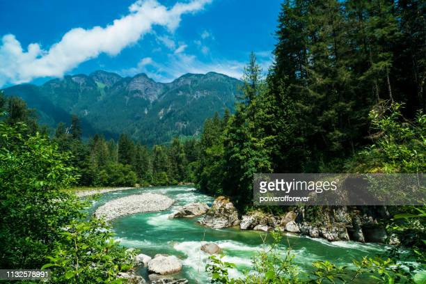 coquihalla river at coquihalla canyon provincial park in the canadian rocky mountains of british columbia, canada - powerofforever stock pictures, royalty-free photos & images