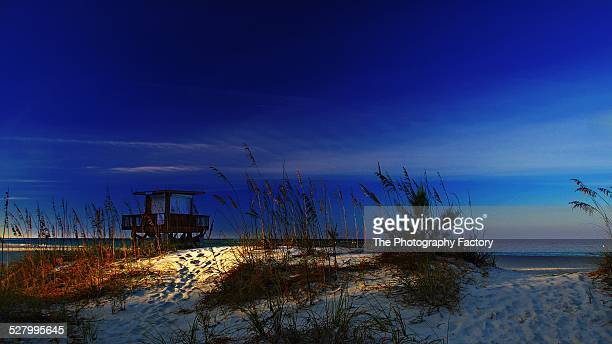 coquina beach lifeguard station - anna maria island stock pictures, royalty-free photos & images