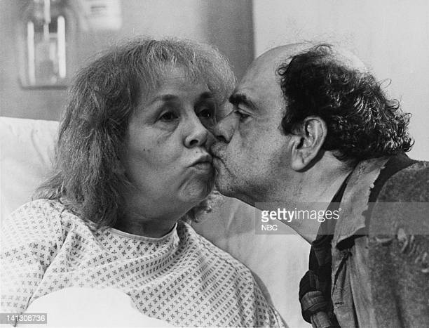 ST ELSEWHERE Cora and Arnie Episode 4 Pictured Doris Roberts as Cora James Coco as Arnie Photo by Paul Drinkwater/NBCU Photo Bank