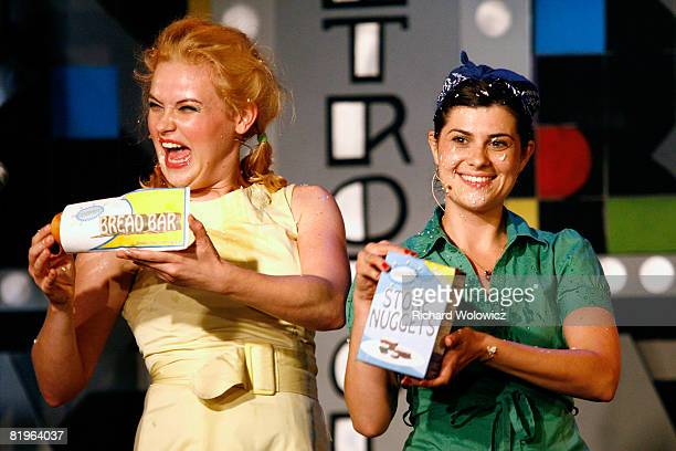 Cora and Candy Apple of the Apple Sisters perform during the Sketch Show at the 2008 'Just For Laughs' Comedy Festival on July 16 2008 in Montreal...
