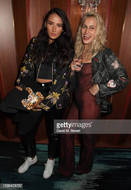 Cora Corre and Alice Dellal attend the NME Awards after party in association with Copper Dog at The Standard on February 12 2020 in London England