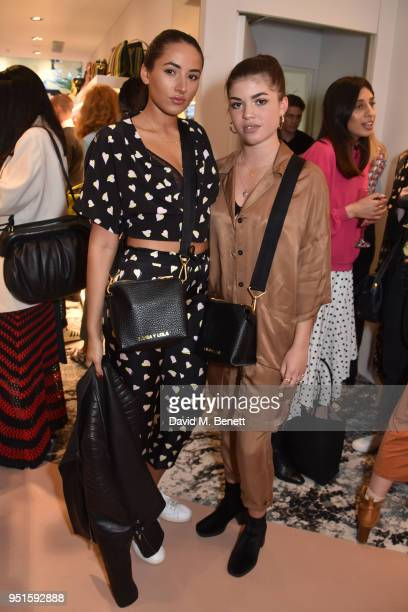 Cora Corre and Molly Moorish attend the launch of the Bimba Y Lola Love Hattie Stewart collaborative collection on April 26 2018 in London England