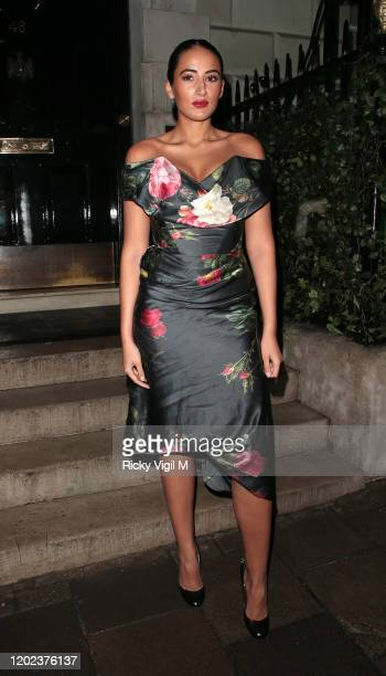 Cora Corre seen attending Country Town House Great British Brands party at Annabel's on January 27 2020 in London England