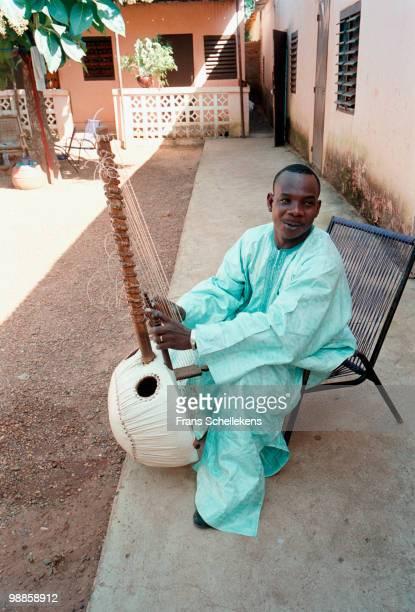 Cora player Toumani Diabate at his house in Bamako, Mali on October 23 1999