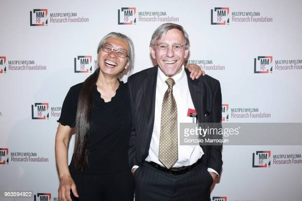 Cora Schneck and Bob Schneck during the Multiple Myeloma Research Foundation's Laugh For Life at 583 Park Avenue on May 1 2018 in New York City